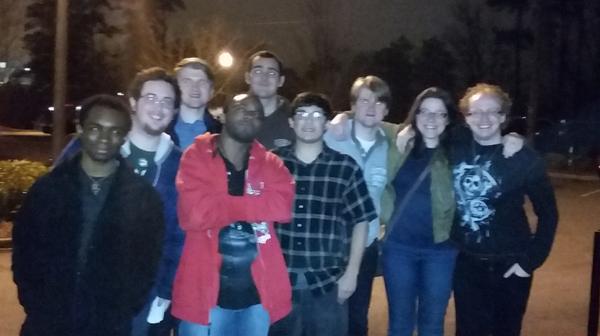 Zen Men members out on a fun night