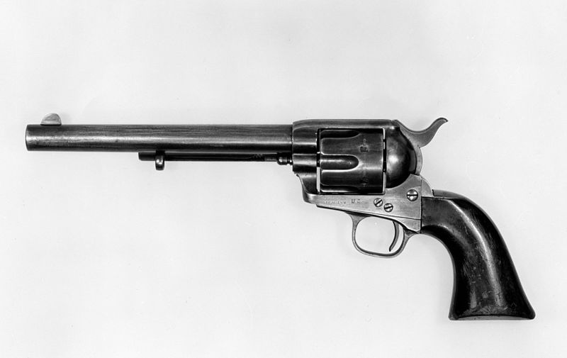 Side view of Peacemaker revolver