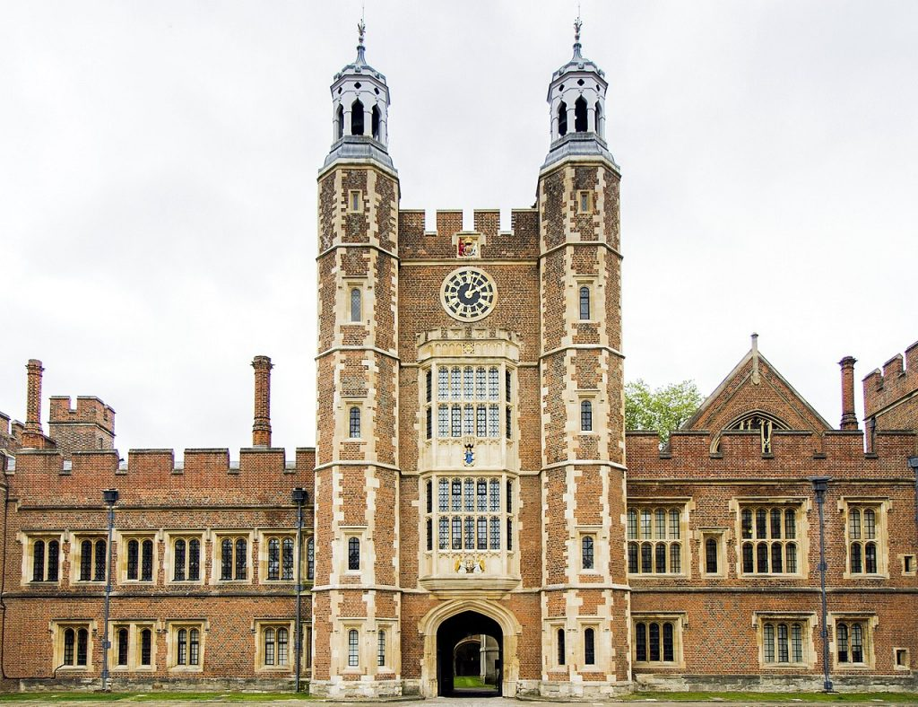 Depiction of Eton College, England.