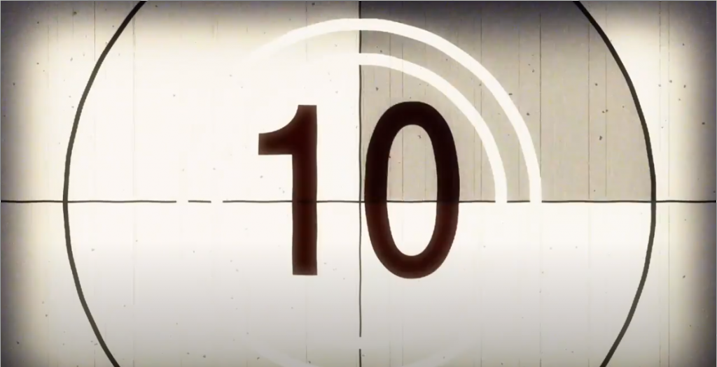 Old style film countdown (10)